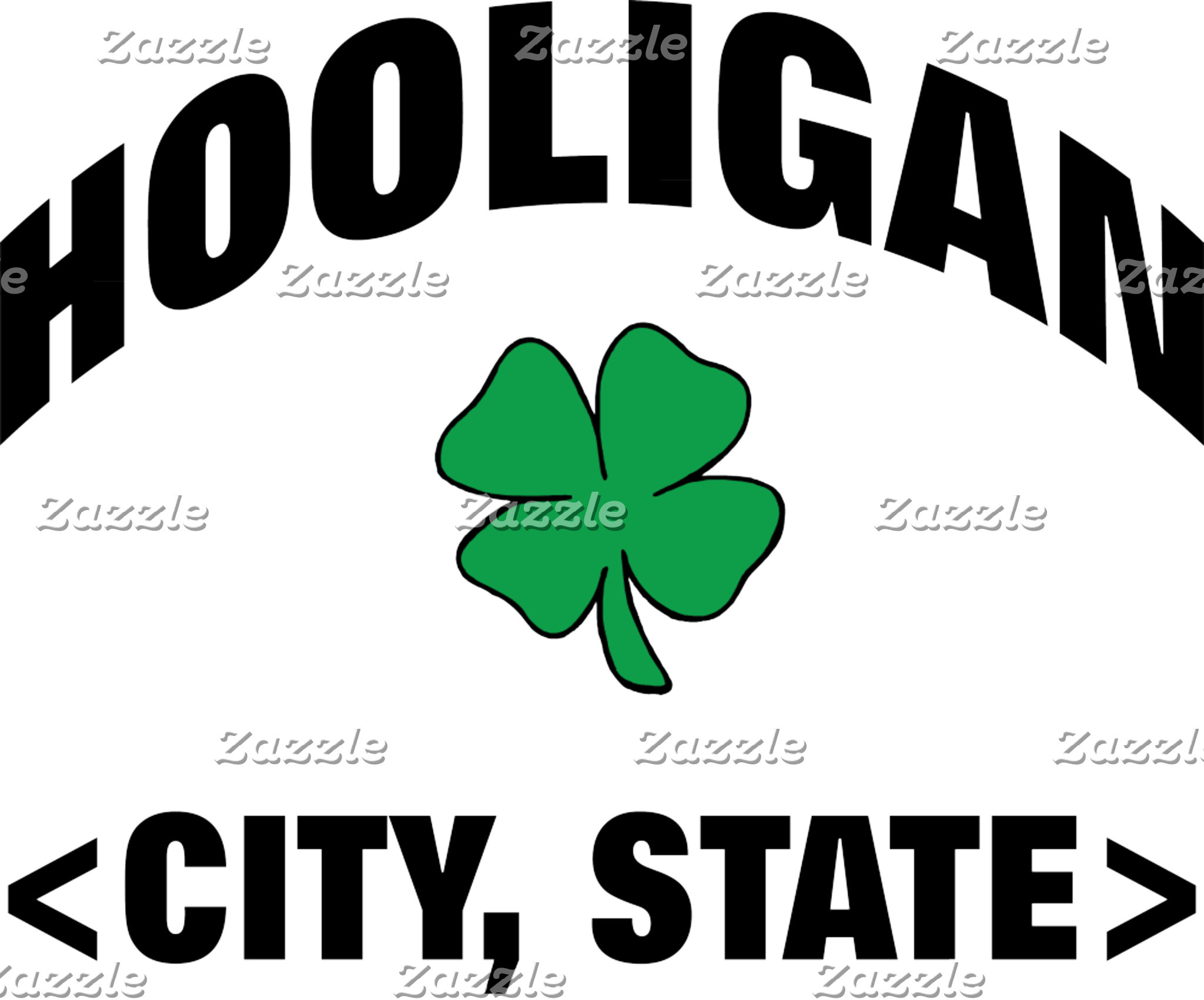 A Personalized Irish Hooligan T-Shirt or Gift