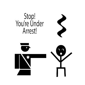 stop youre under arrest music humour 2