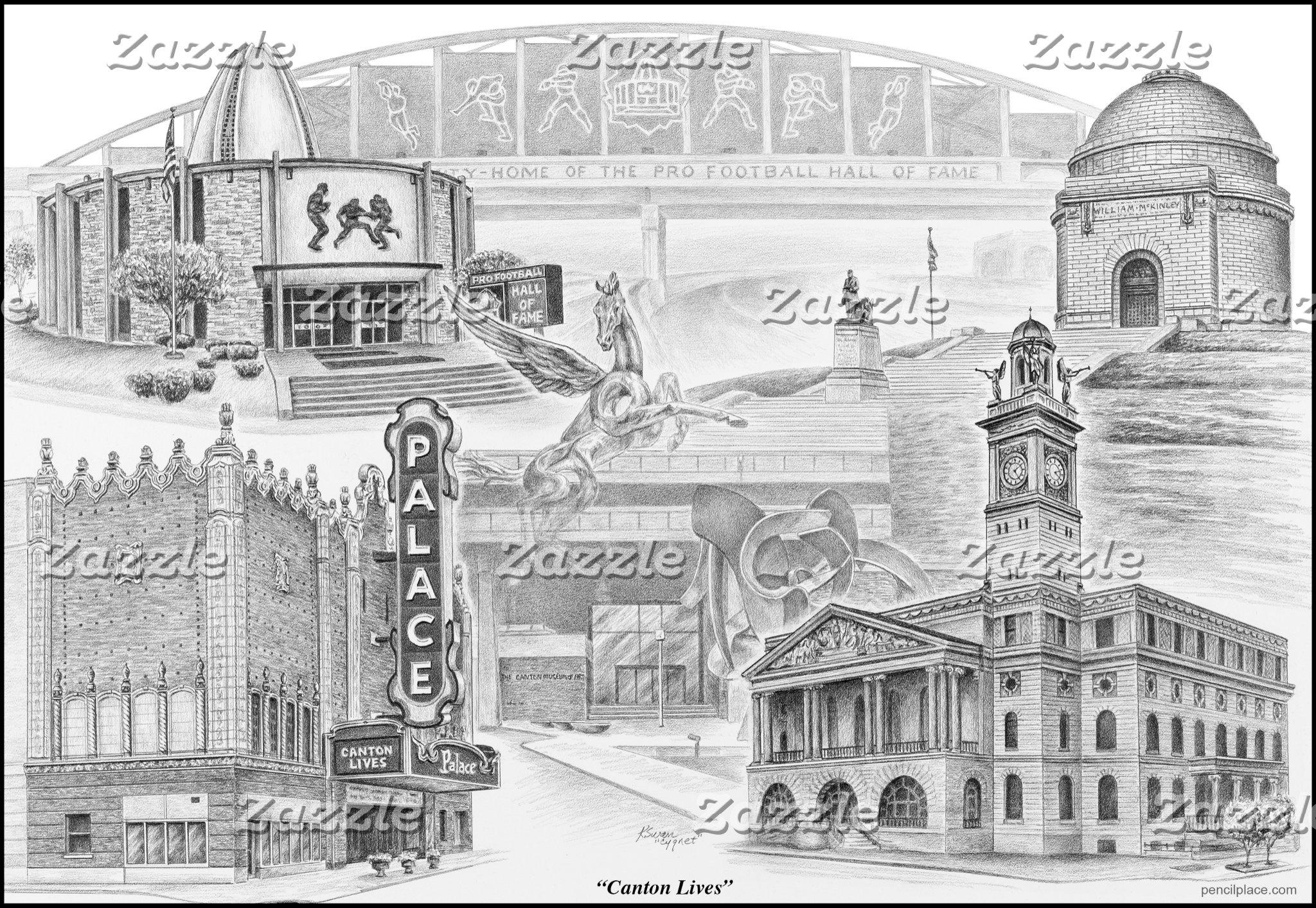 "Canton, Ohio Art - ""Canton Lives"""