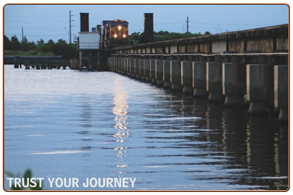 Trust Your Journey Train Photo