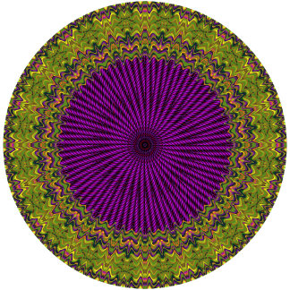 Abstract Green, Purple Red Hued Circle Design