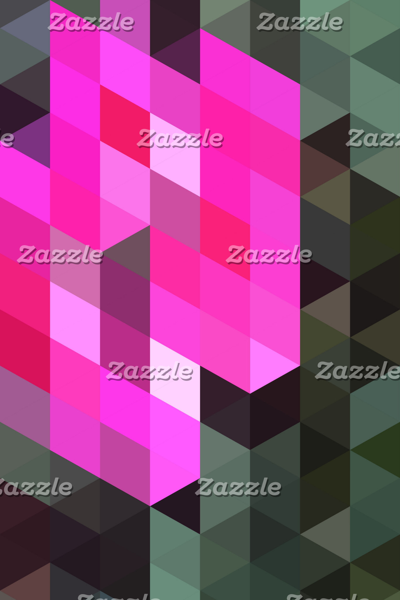 Geometric Patterns | Pink and Grey Triangles