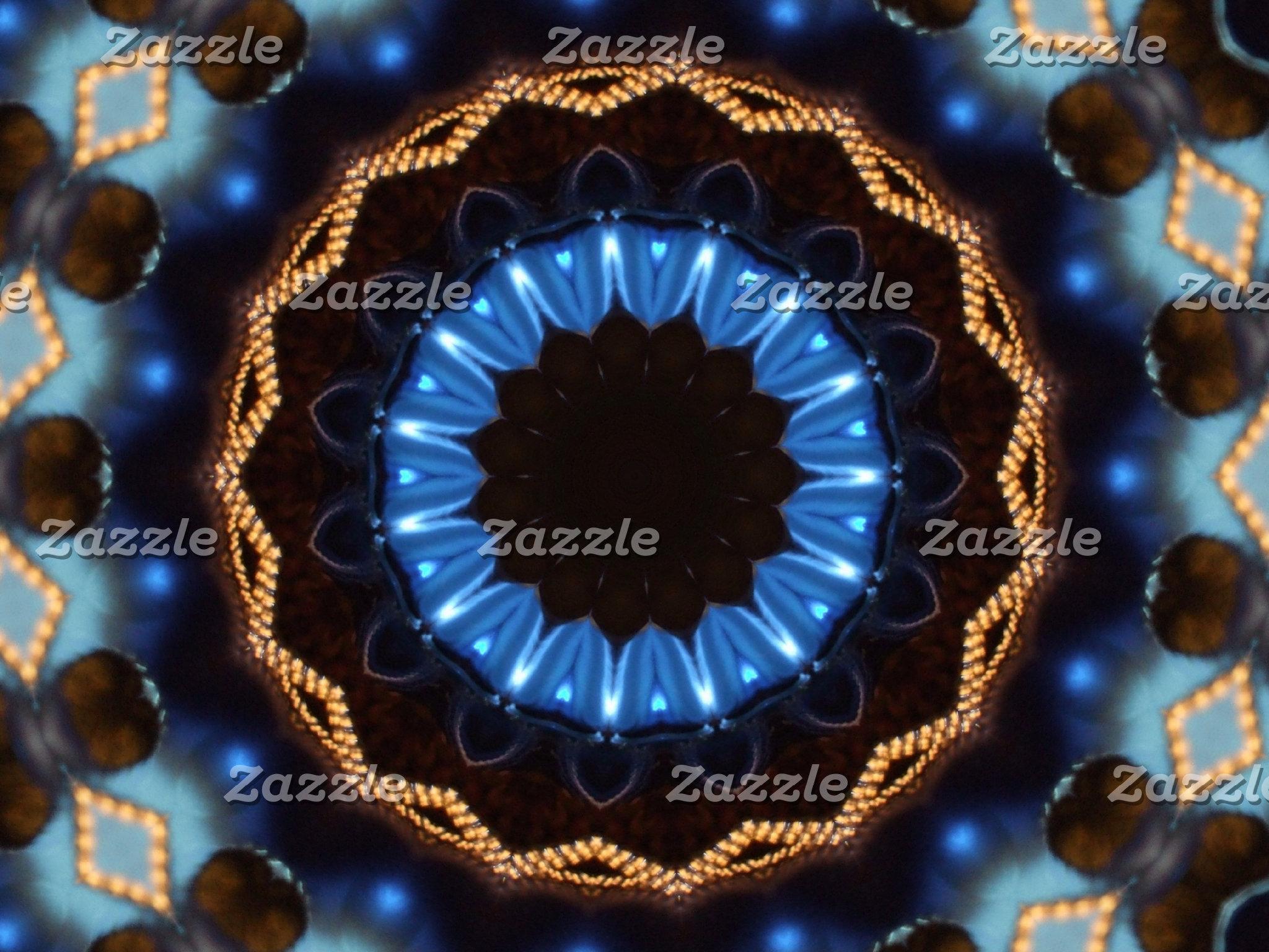 Christmas Blue Kaleidoscope