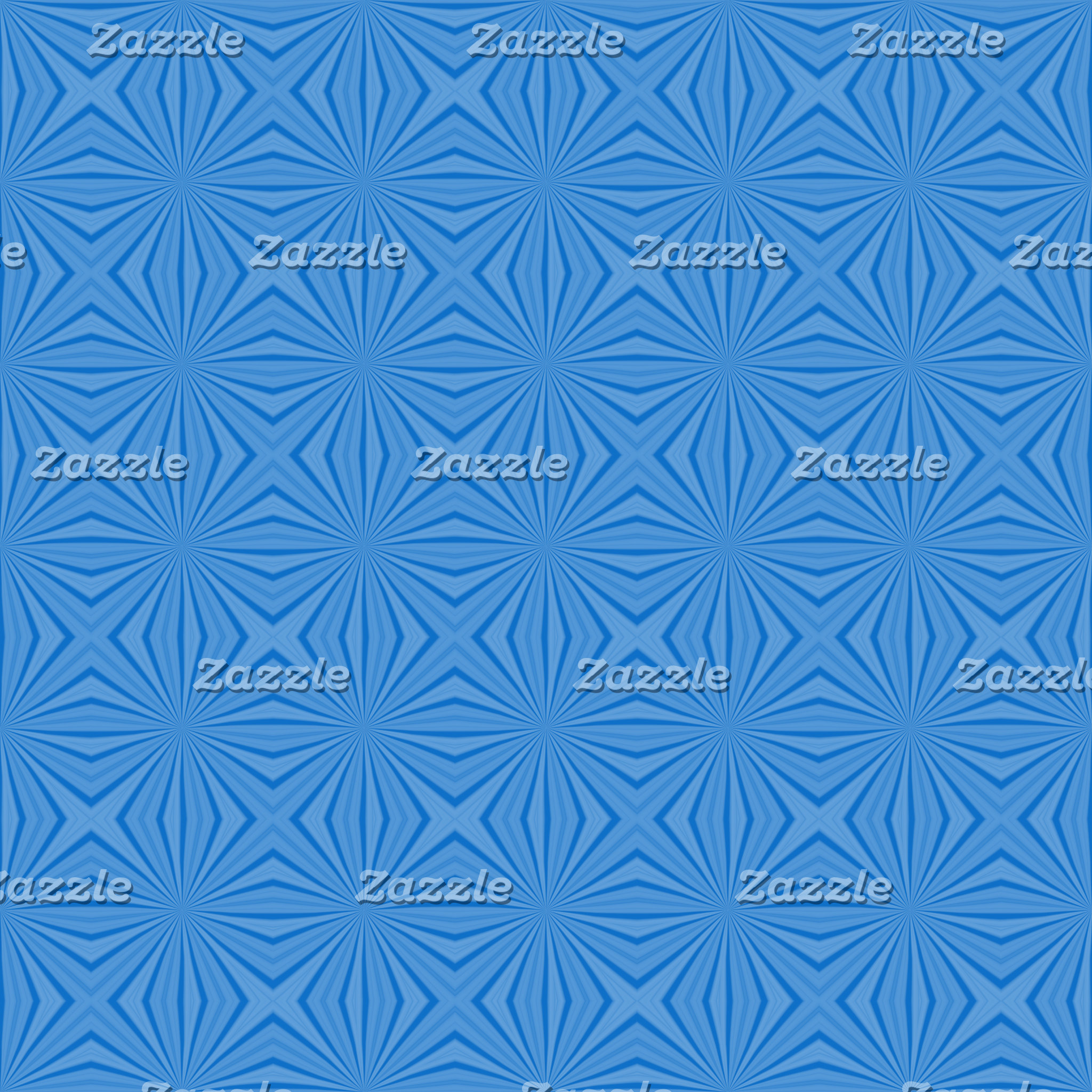 Hannakah Blue Squiggly Squares
