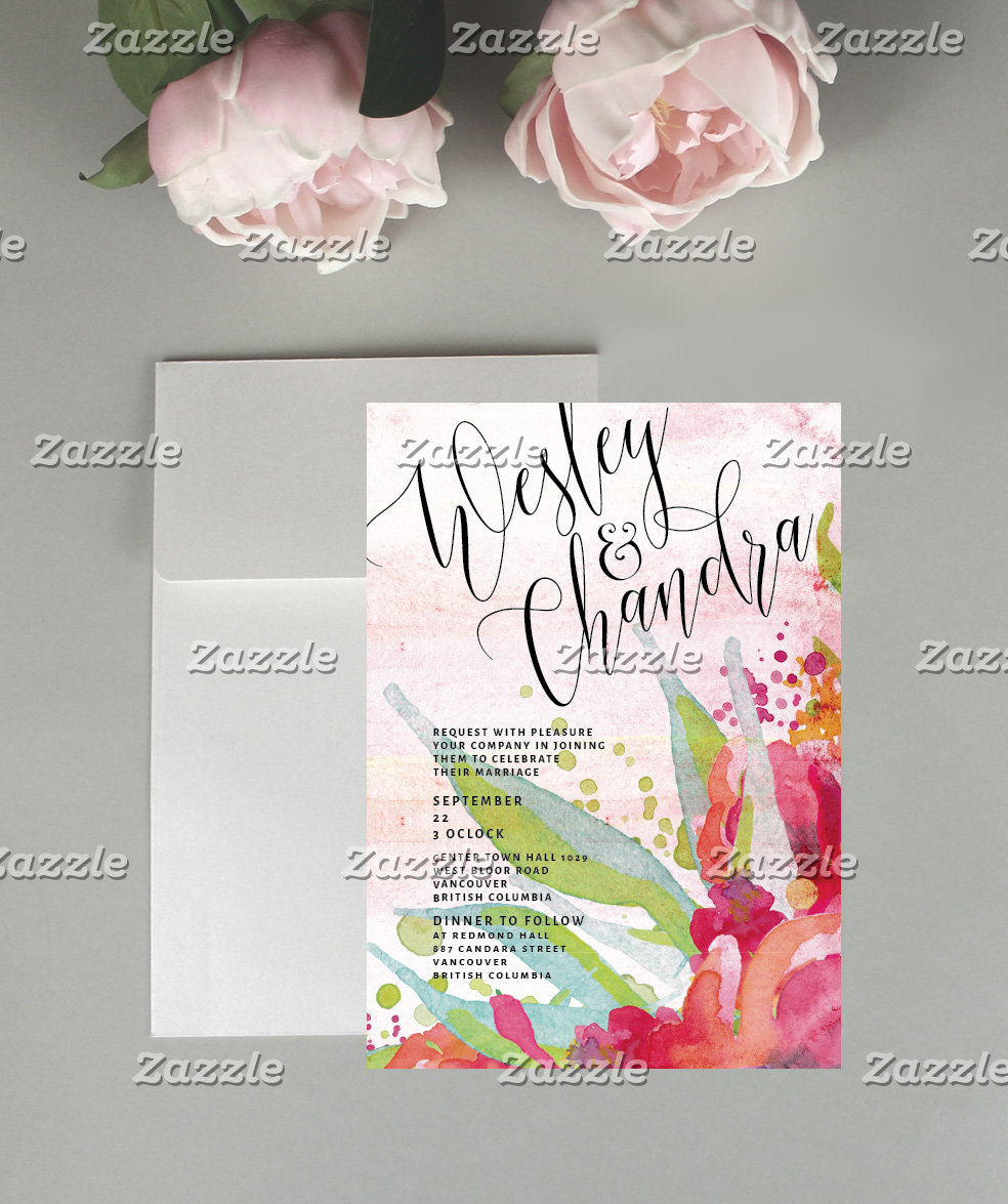 Watercolor Wedding Stationary