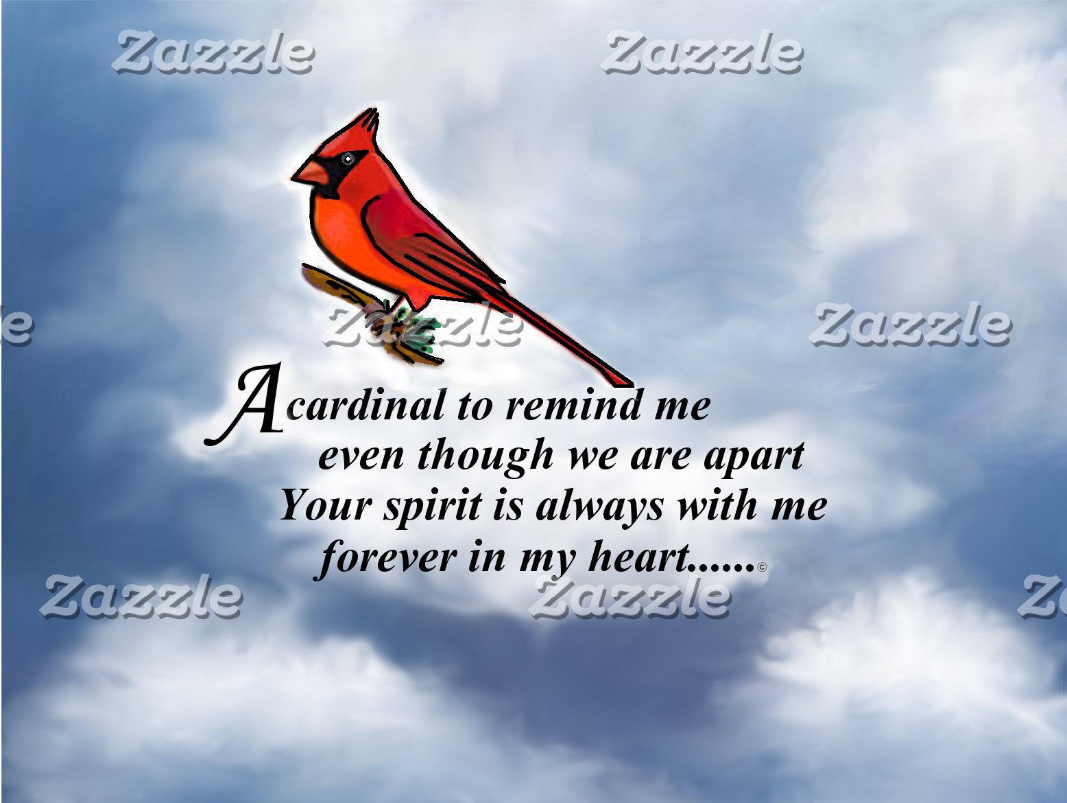 Cardinal Memorial Poem