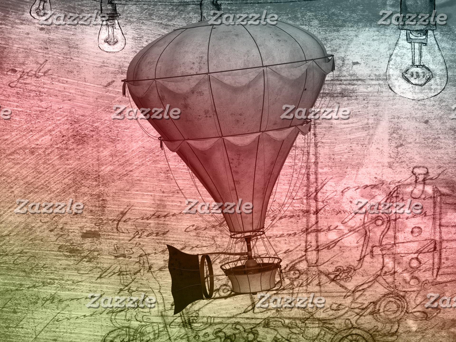 Steampunk Balloon Sketch