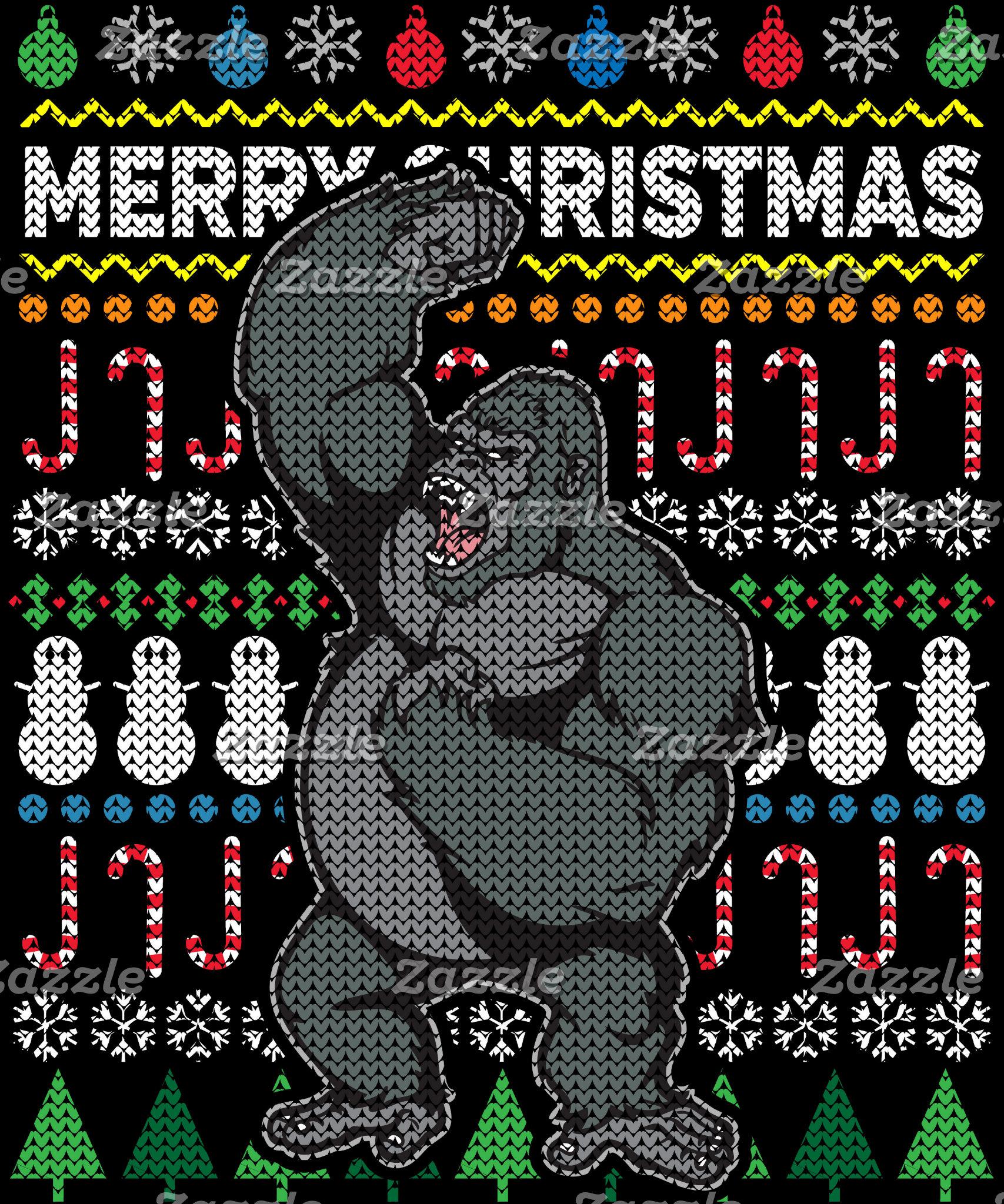 Gorilla Ugly Christmas Sweater