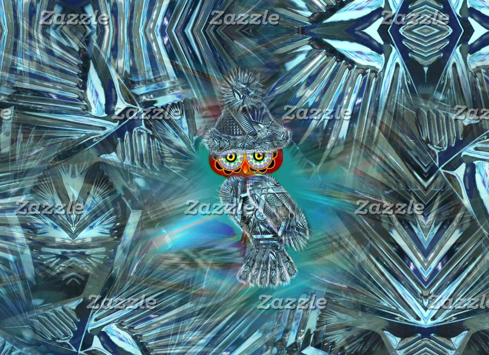 Crystallized Winter Fashion Owl