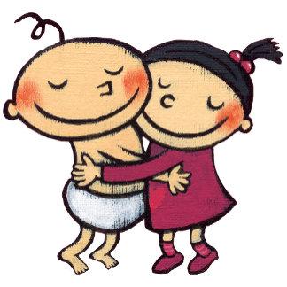 Best Friends Hugging
