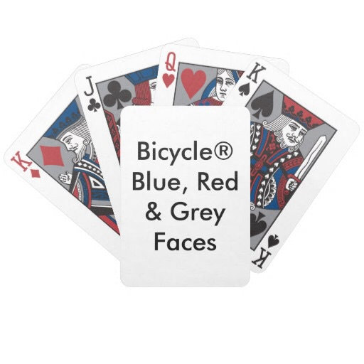 Bicycle® Blue, Red & Grey