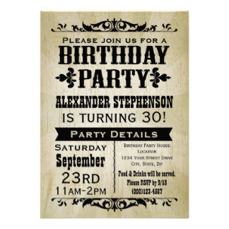Birthday Party and Ticket Invitations