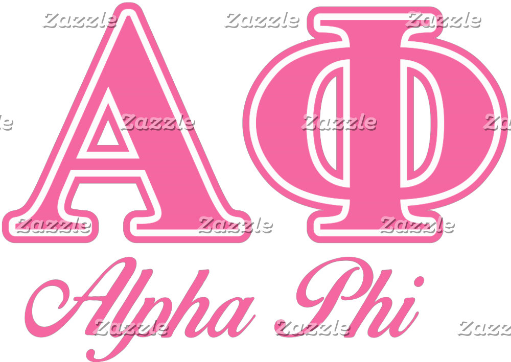 Alpha Phi Pink Letters