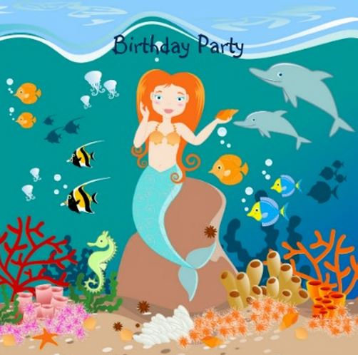 Mermaid Girl Birthday Party Theme