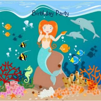 Mermaid Girl Birthday Party Theme
