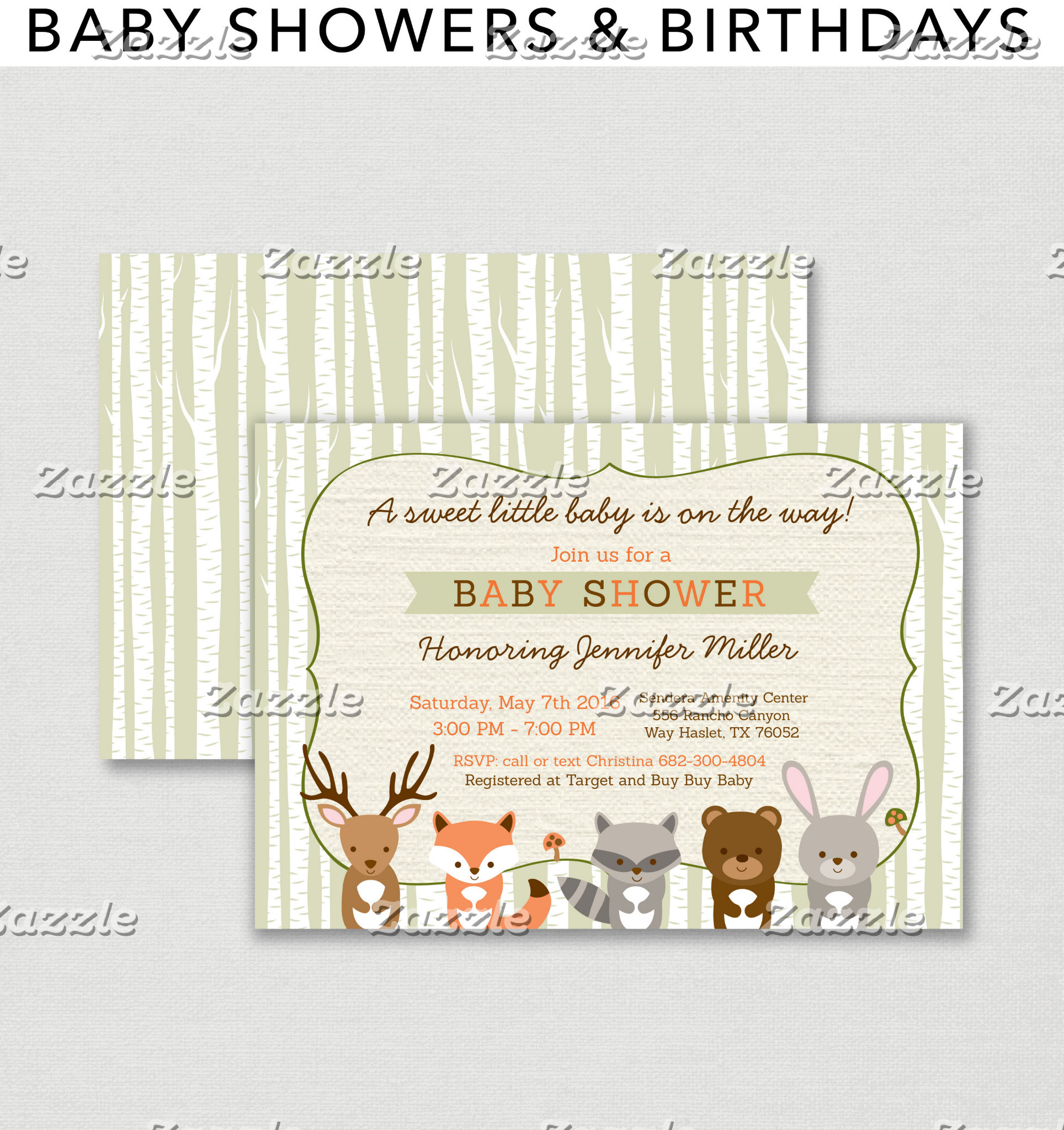 Baby Showers & Birthdays