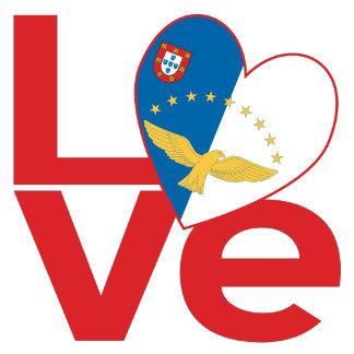 Azorean Red LOVE Flag