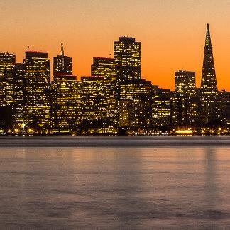 Beautiful sunset in San Francisco