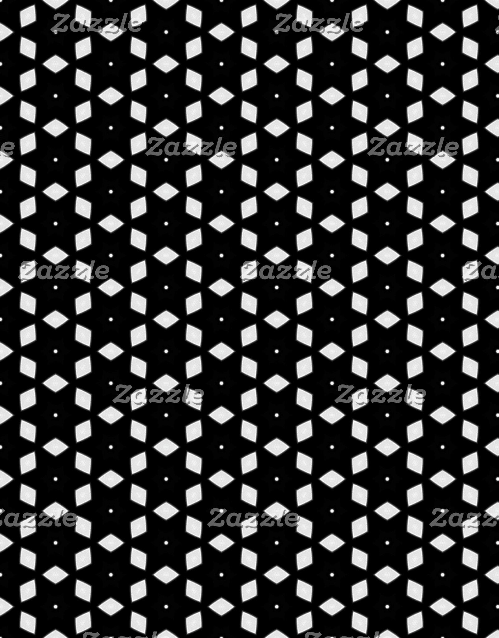Black and White Patterns | Diamonds and Stars I