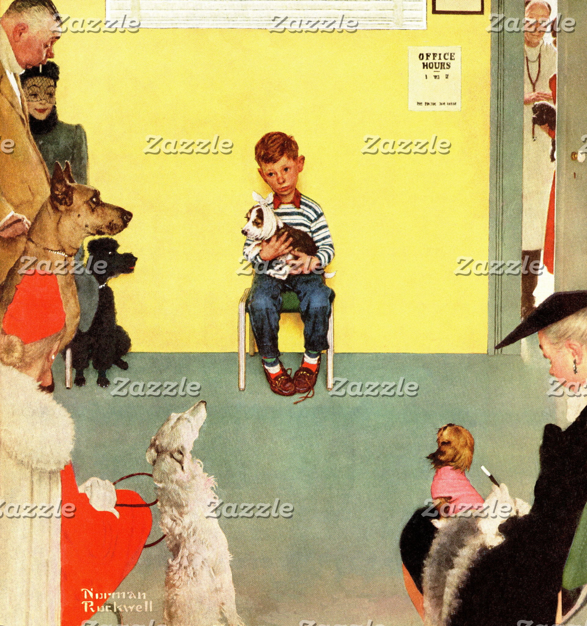 At The Vets by Norman Rockwell