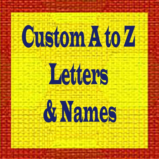 Custom A to Z Letters & Names