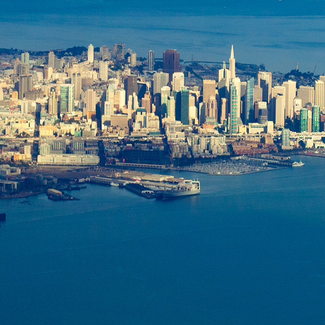 Aerial photograph of the San Francisco Bay
