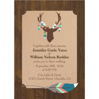 Brown Tribal Deer Wedding Set