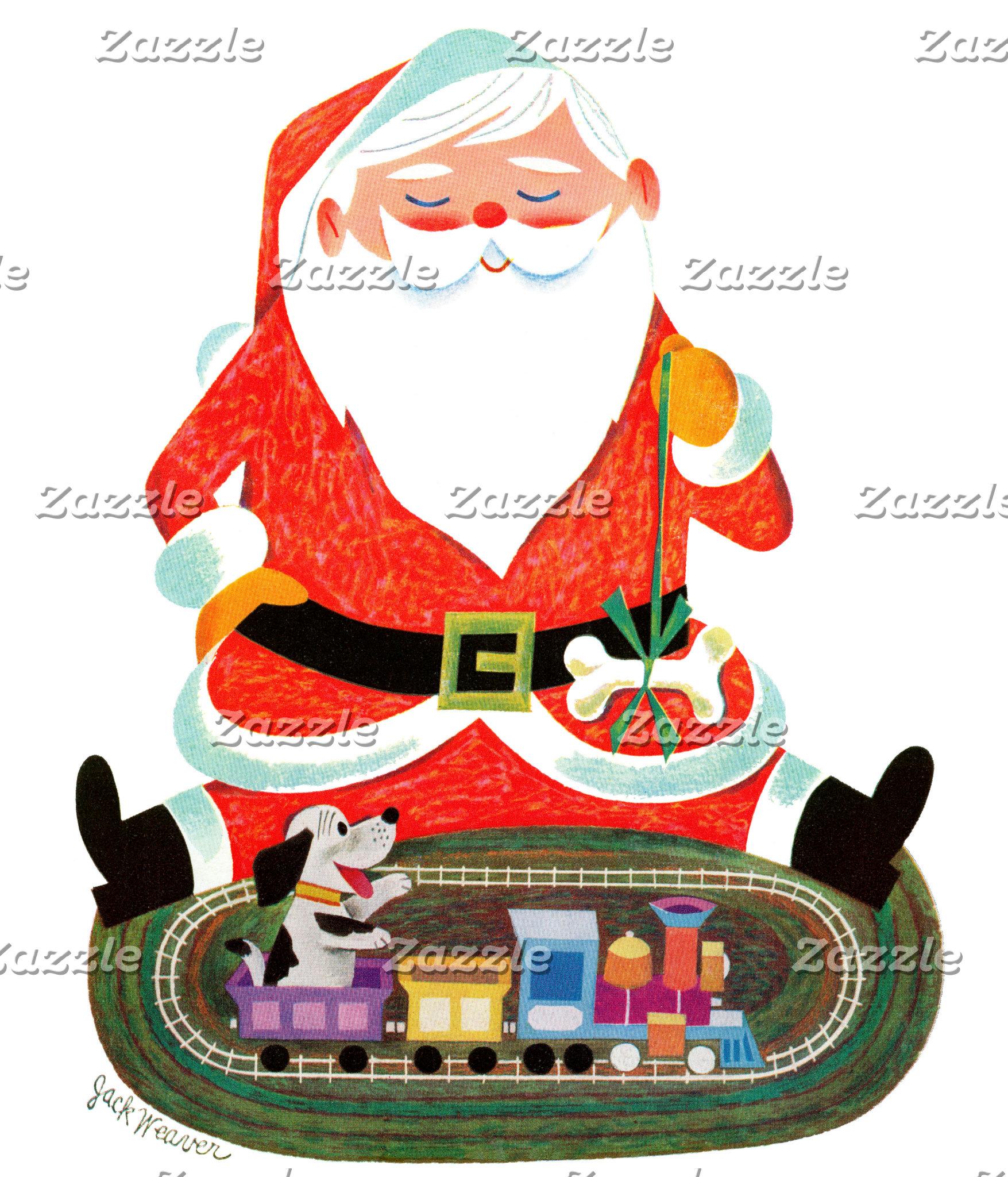 Santa with Train