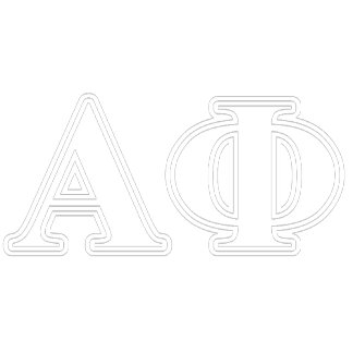 Alpha Phi White and Bordeau Letters
