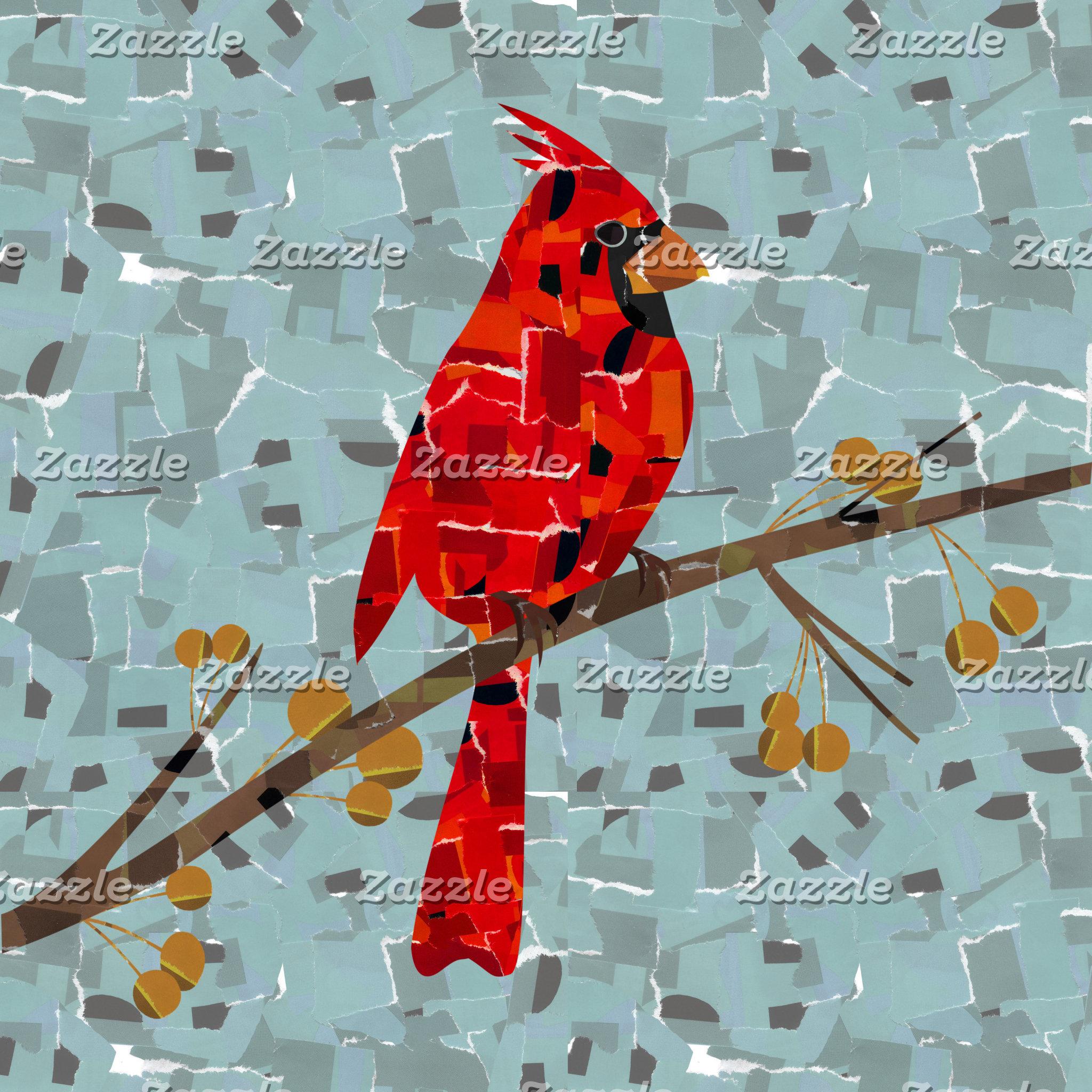 Cardinal bird mosaic