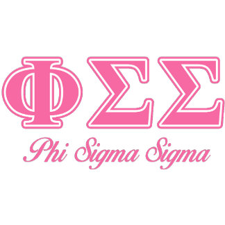 Phi Sigma Sigma Pink Letters