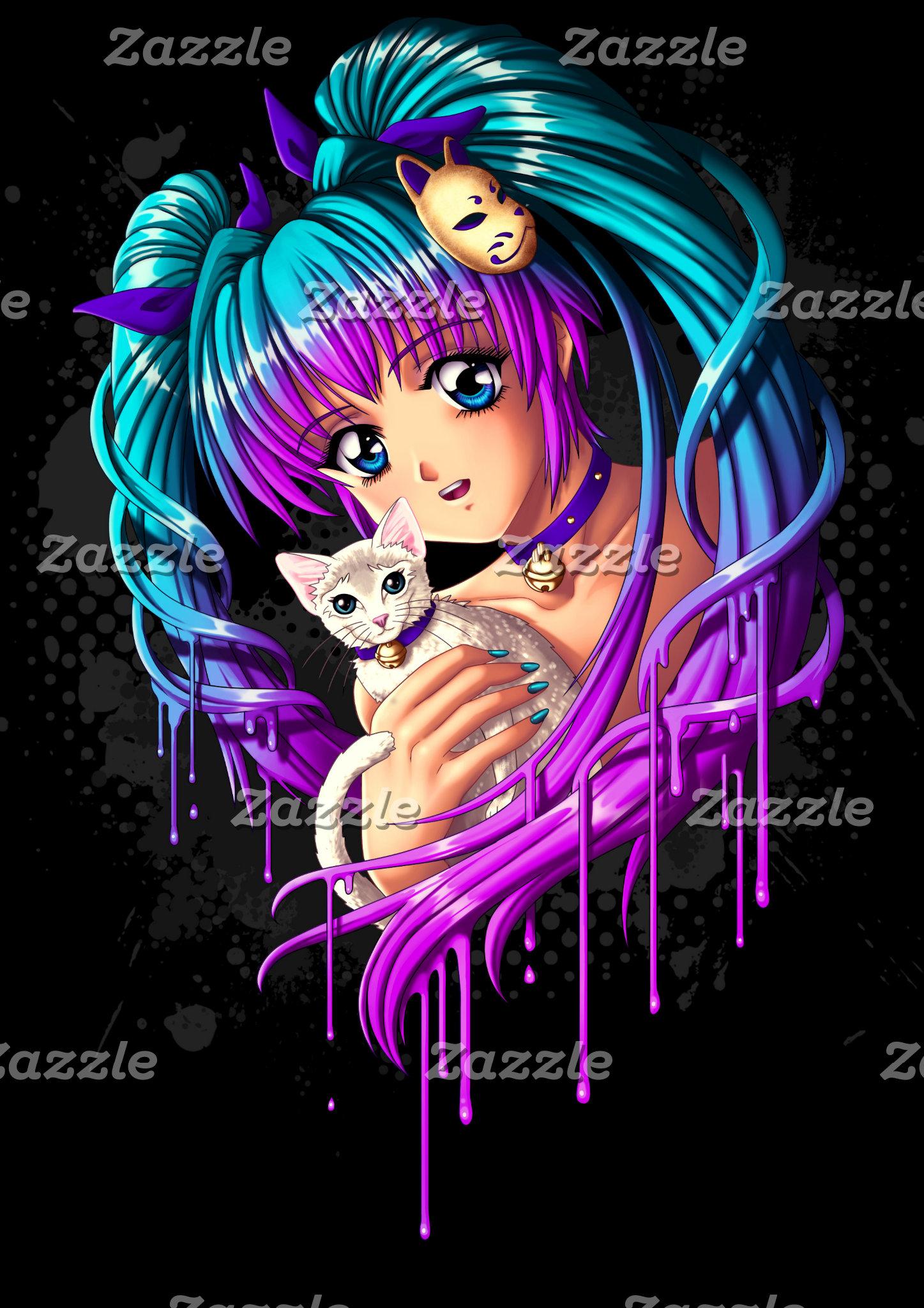 Manga Girl and Kitty