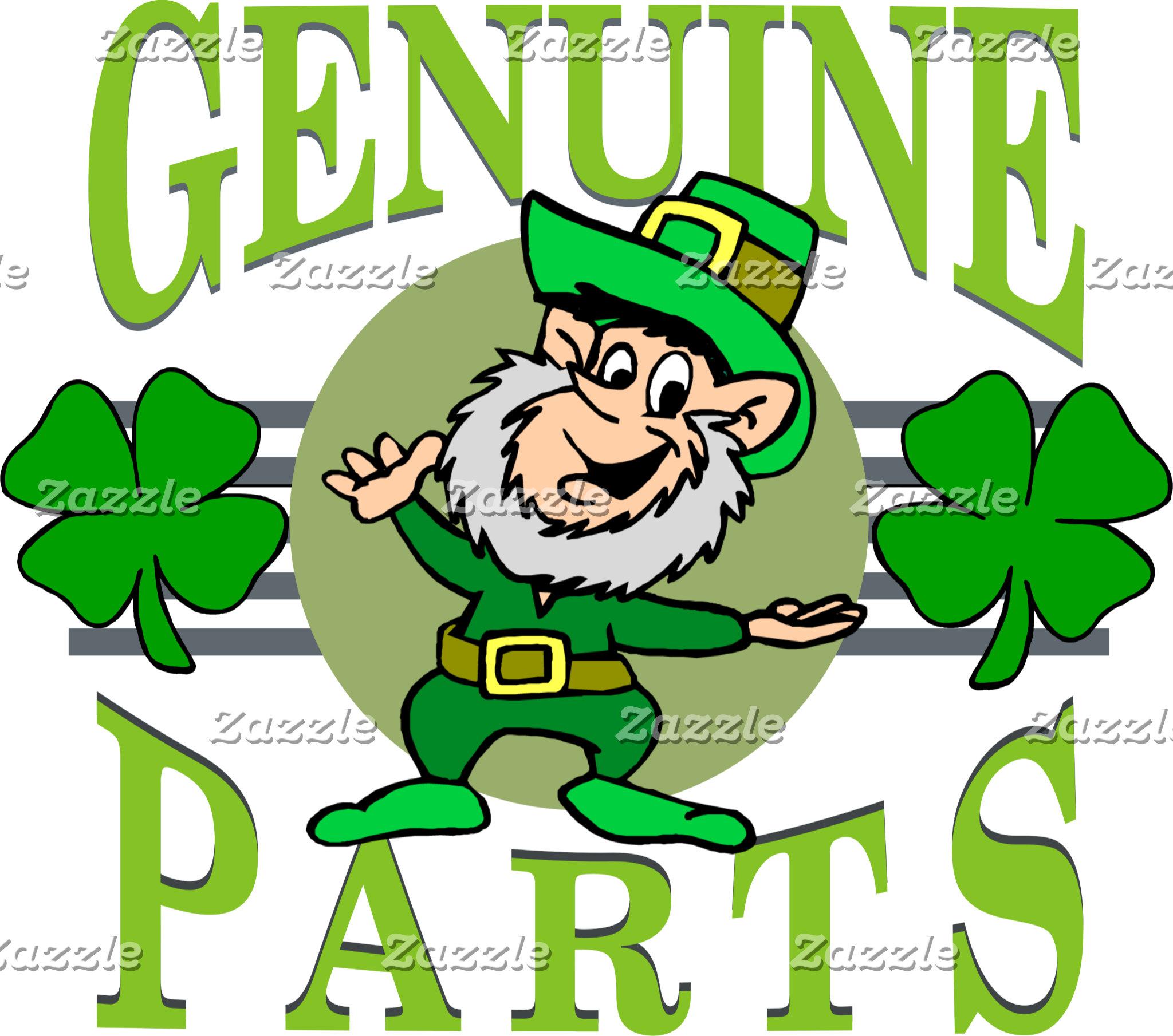 Genuine Irish Parts T-Shirts Gifts Cards