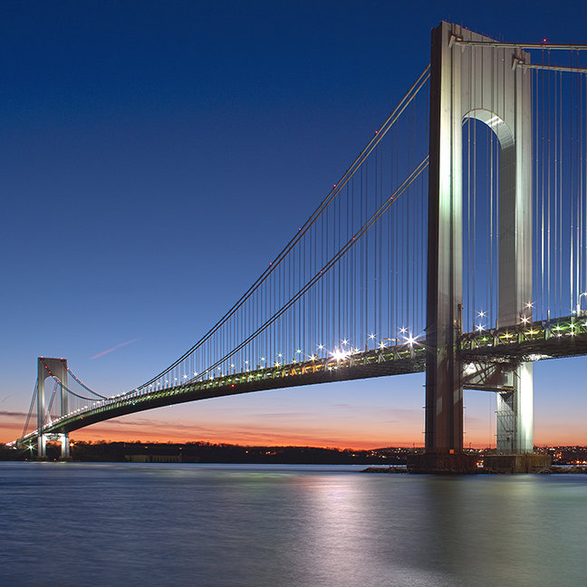 Verrazano-Narrows Bridge at Sunset