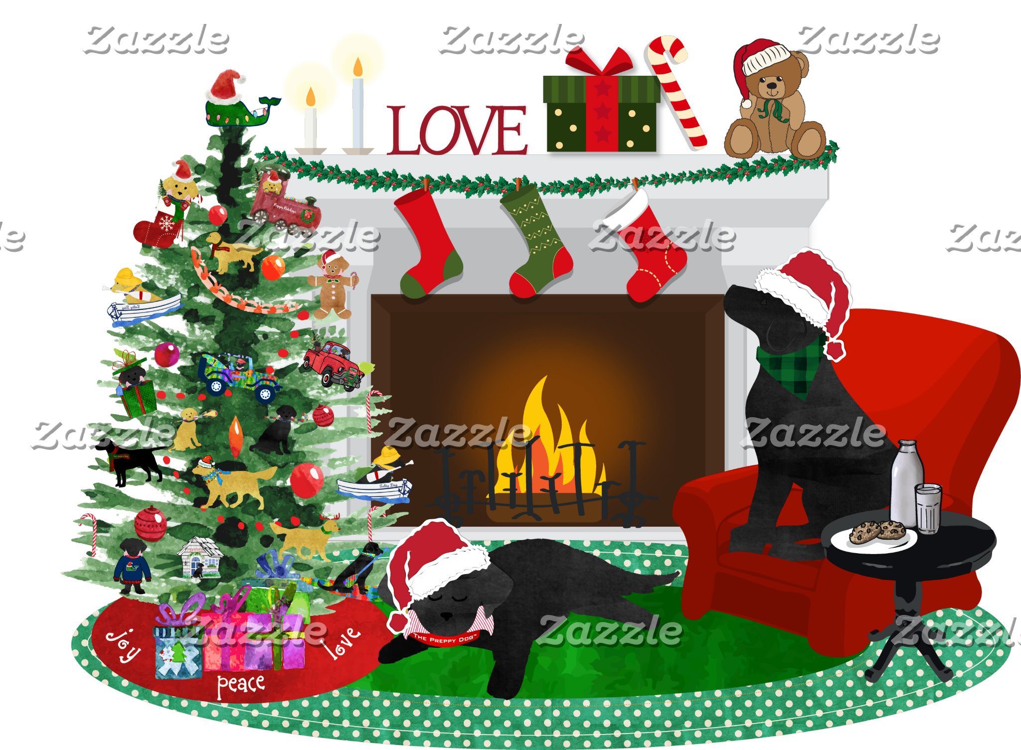 Black Labs Night before Xmas