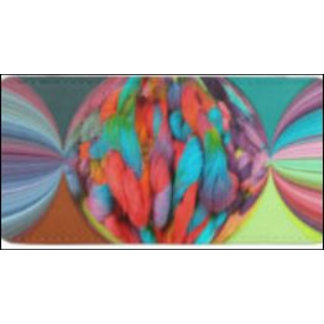 Bright Ball of Multi-Color Yarn Skeins