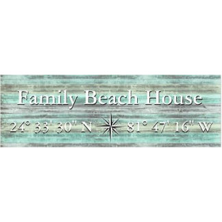Custom Lattitude And Longitude Coastal Decor