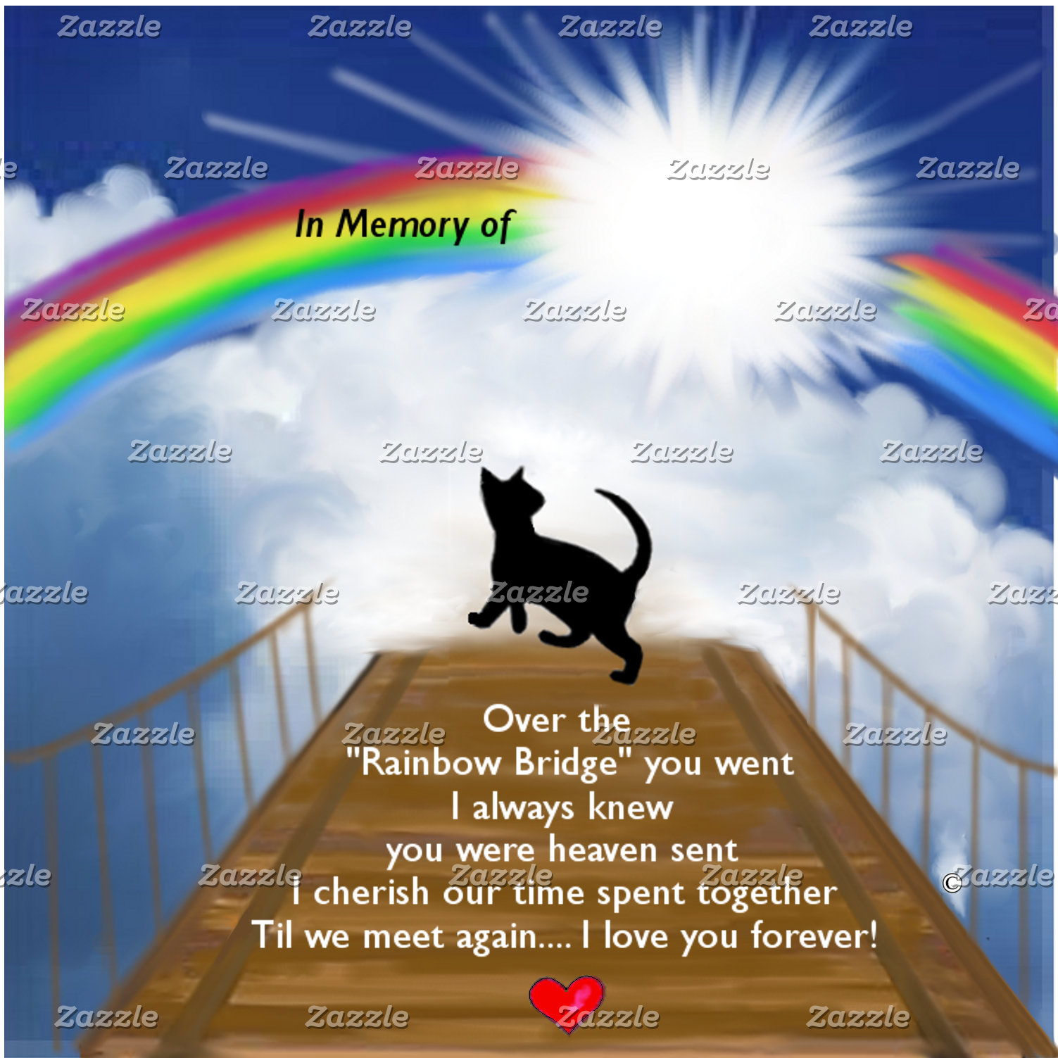 Rainbow Bridge Memorial for Cats