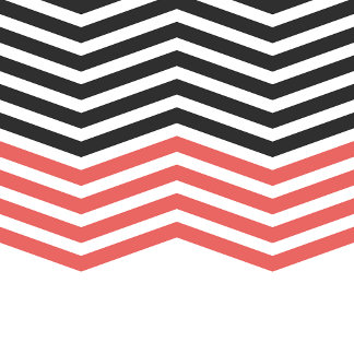 Modern Geometric Chevron Pattern Hip Black Red