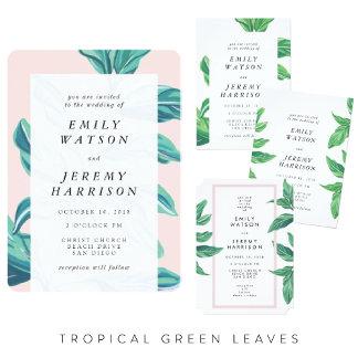 Tropical Island Fresh Green Leaves