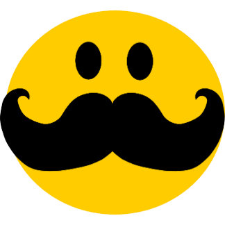 Mustached Smileys
