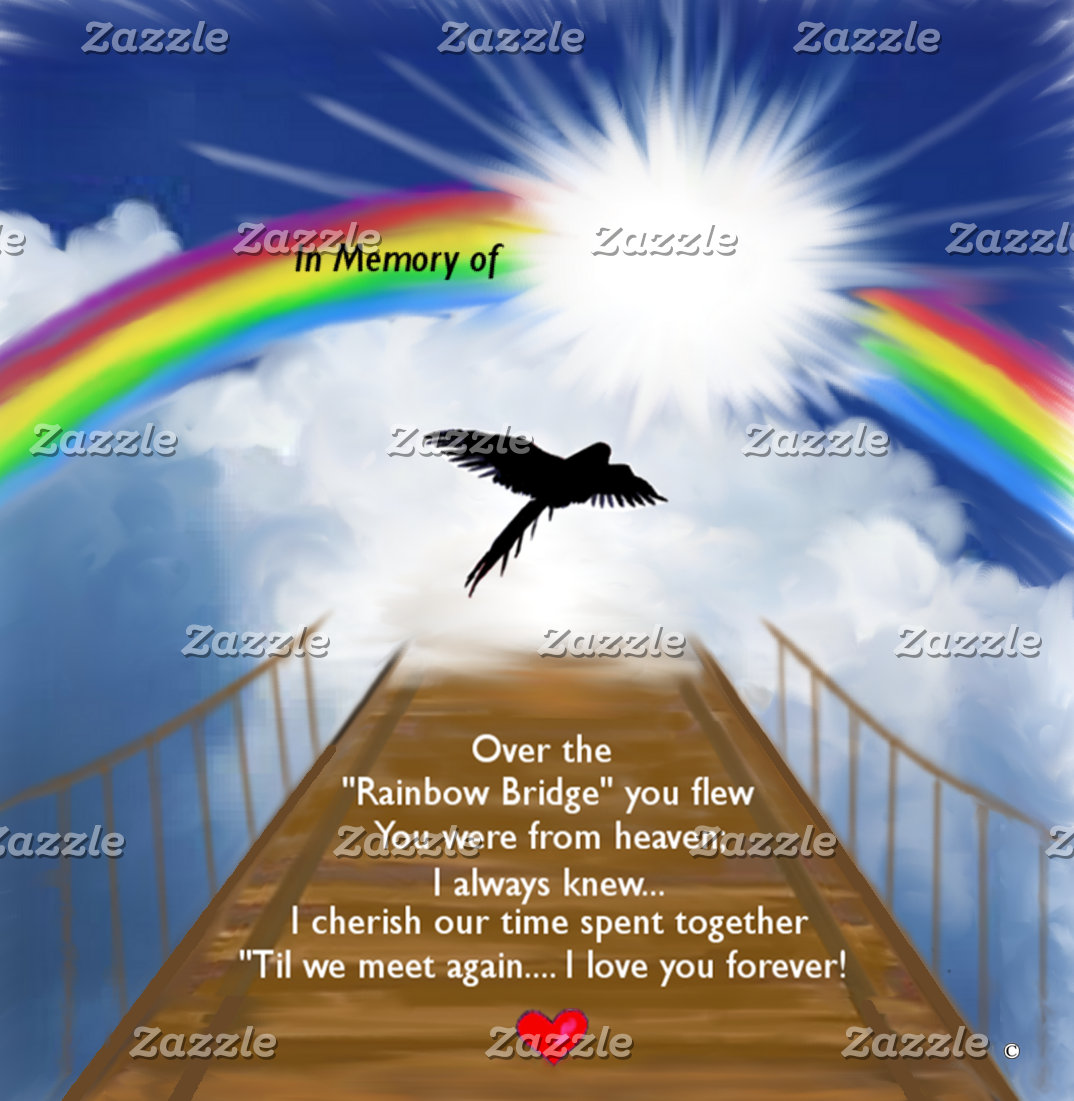 Rainbow Bridge Memoria For Birds
