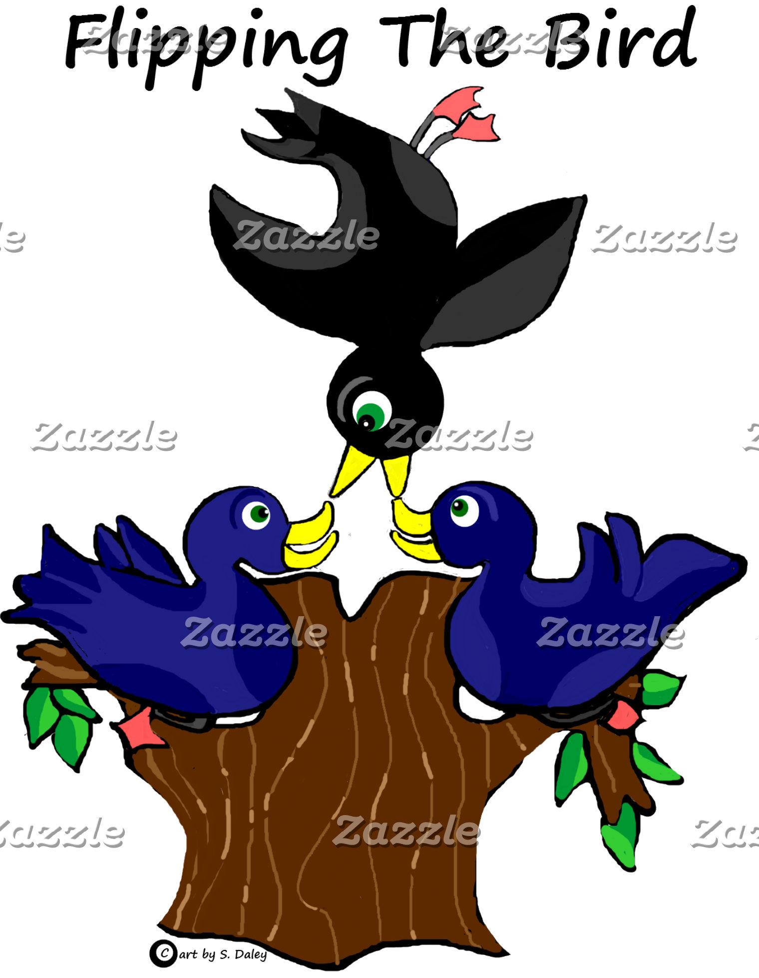 Birds Flipping the Bird