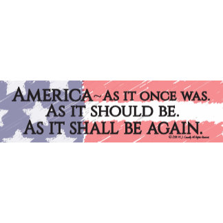 """""""An American Toast"""" Bumper Stickers"""