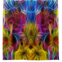 Abstract and Fractal Shower Curtains