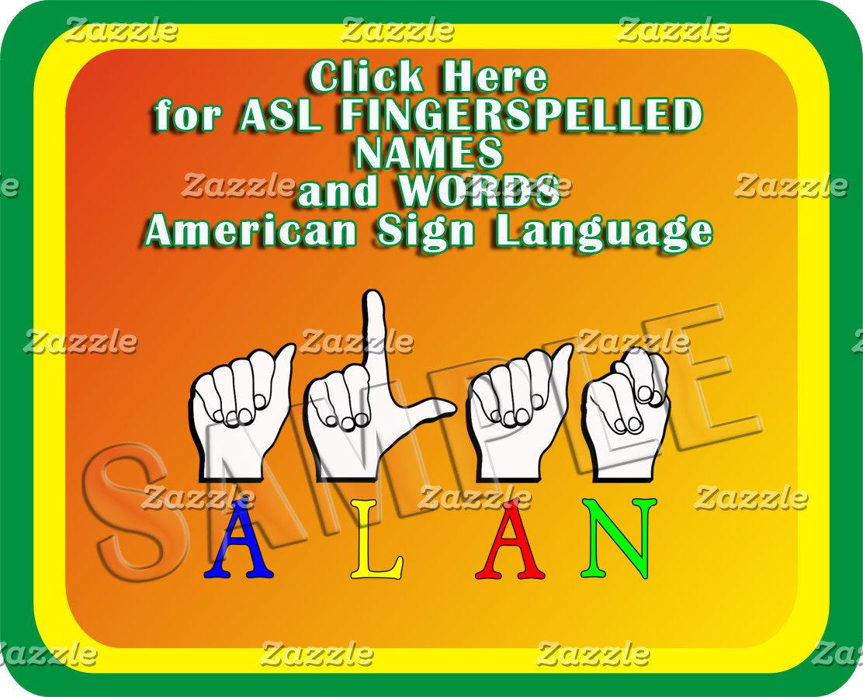 00 FINGERSPELLED  ASL NAMES, TITLES, ANIMALS..MORE