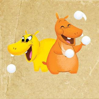 Yellow & Orange Hippos
