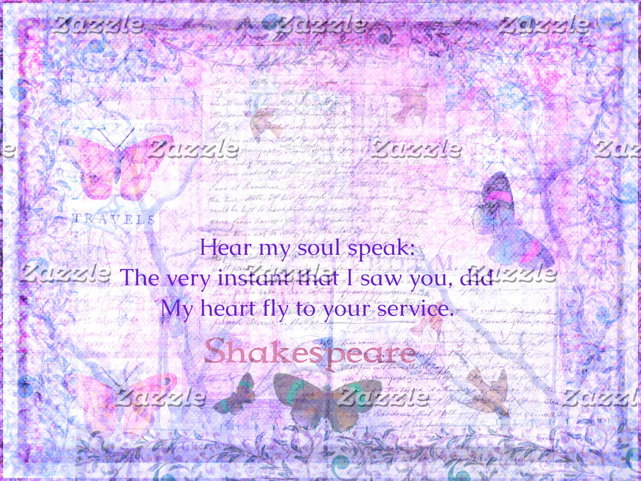 Hear my soul speak:  The very instant that I saw