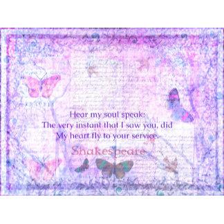 Hear my soul speak:  The very instant that I saw
