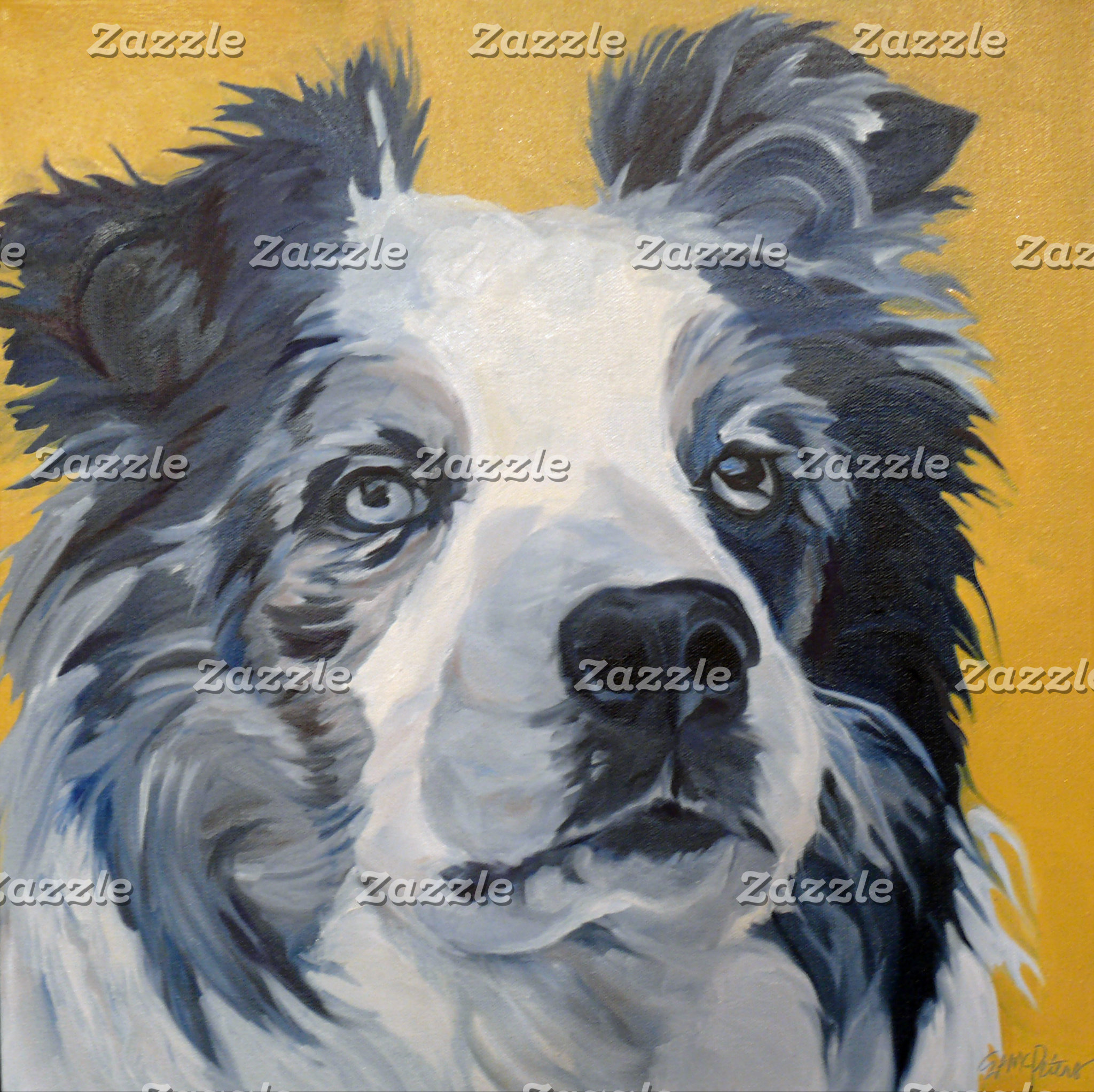 Collie Dog Art